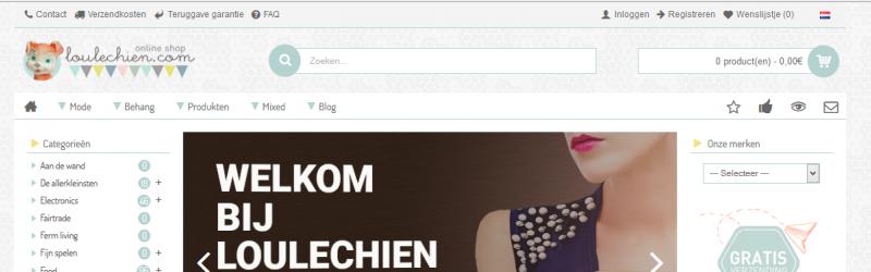 Welkom op onze vernieuwde webshop