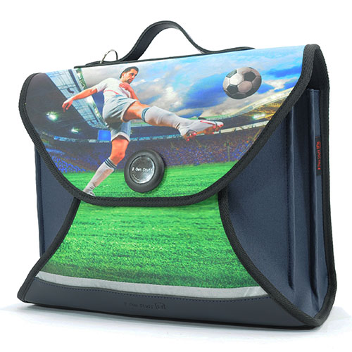 Own Stuff-duurzame apikid boekentas 38 cm-voetbal-10009
