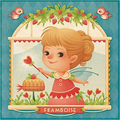 La Marelle Editions-postkaart Gaïa Bordicchia-framboise-1151