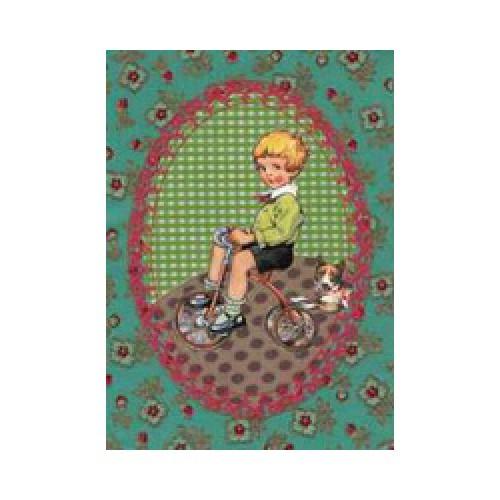 Froy en Dind-postkaart kers op de kaart-fietsje-1277