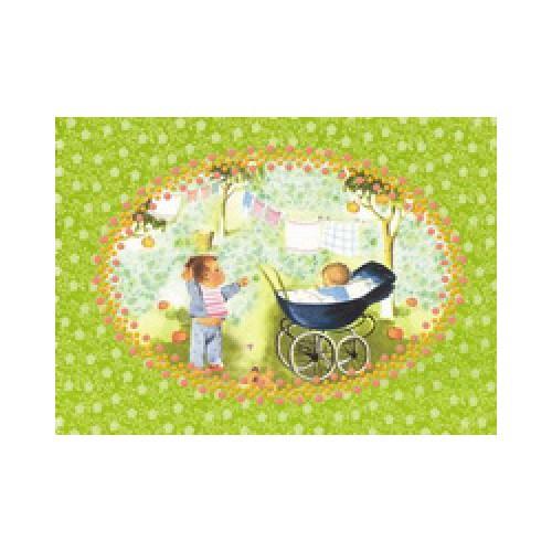 Froy en Dind-postkaart kers op de kaart-kinderwagen-1290