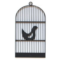 houten hanger vogelkooitje