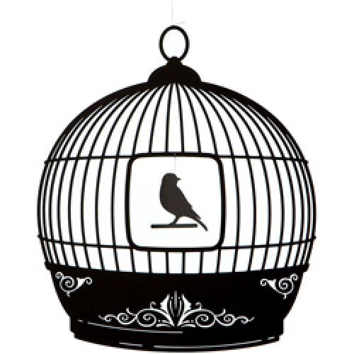 Ige Design-prachtige mobile-vogelkooi zwart-1518