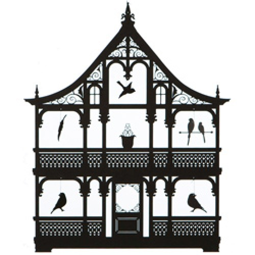 Ige Design-prachtige mobile-vogelhuis zwart-1519