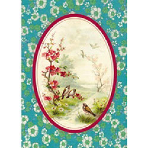 Froy en Dind-postkaart kers op de kaart-vogeltjes-1645