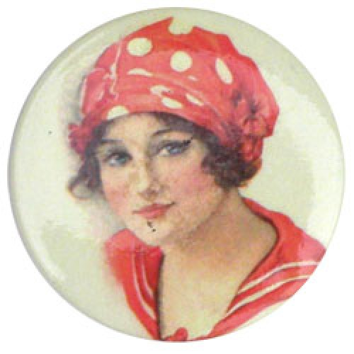 Froy en Dind-retro magneet button-vrouw-1658