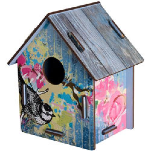 Miho-kleurrijk vogelhuisje small-black cap-1876