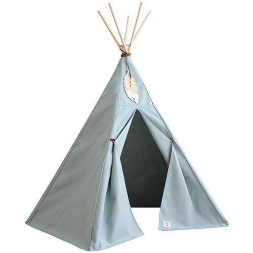 Nobodinoz-superleuke Tipi tent Nevada-riviera blue-9678