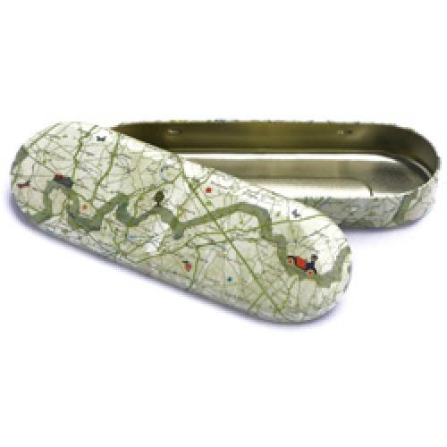 Froy en Dind-retro blikken pennendoos-landkaart-2071