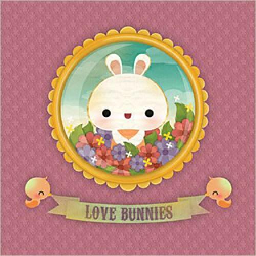 La Marelle Editions-postkaart la marelle-love bunnies-2303