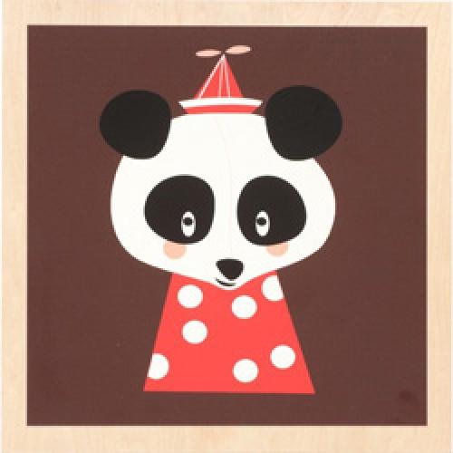 Ferm Living-prent op houten paneel-posey panda-2352