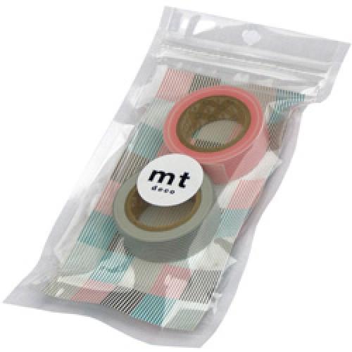 Mark's-setje japanse washi tapes-border cosmos x smokey grey-2401