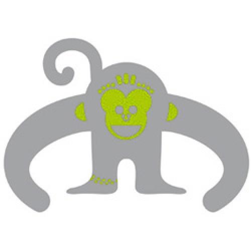 Cocoboheme-reflecterende sticker voor zichtbaarheid-aap groen-2463