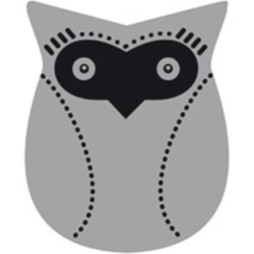 Cocoboheme-reflecterende sticker voor zichtbaarheid-uil zwart-2465