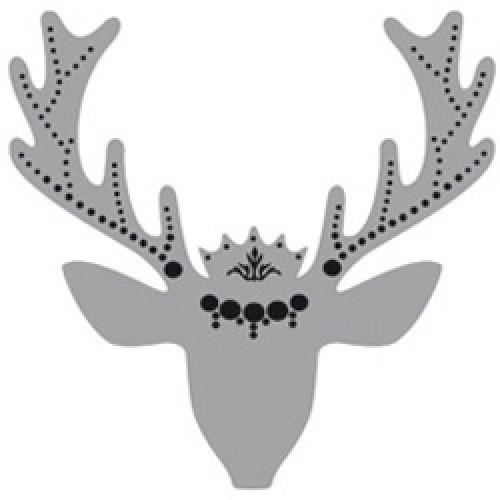 Cocoboheme-reflecterende sticker voor zichtbaarheid-hert zwart-2468