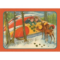 postkaart kers op de kaart