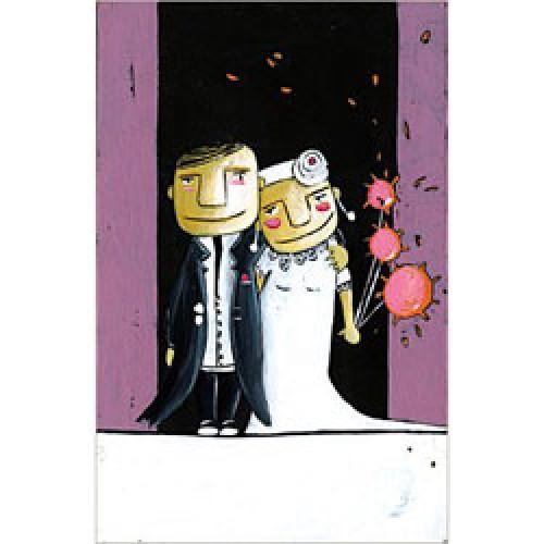 La Marelle Editions-kleine wenskaart la marelle-huwelijk-2629