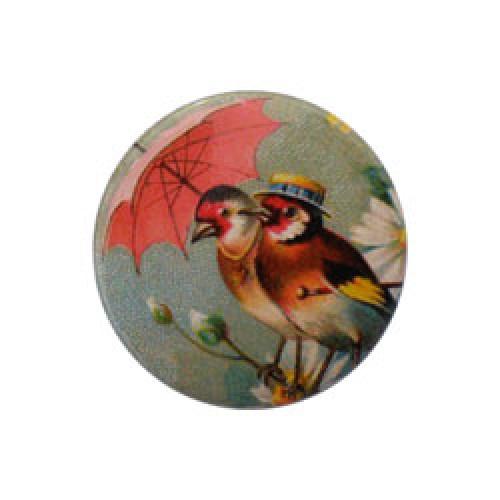 Froy en Dind-hippe retro badge-vogeltjes paraplu-2782