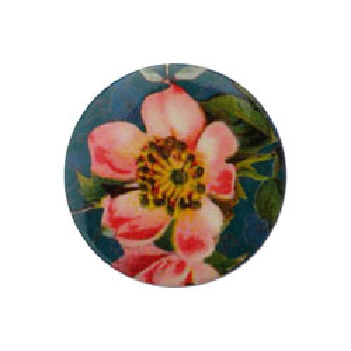 Froy en Dind-hippe retro badge-roze bloem-2786