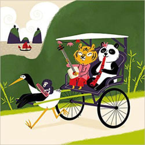 La Marelle Editions-postkaart la marelle-chariot de printemps-2830