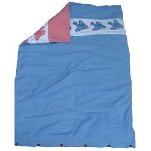 Babies and Butterflies-dekbedovertrek ledikant 100 x 140 cm-blauw/rood-29
