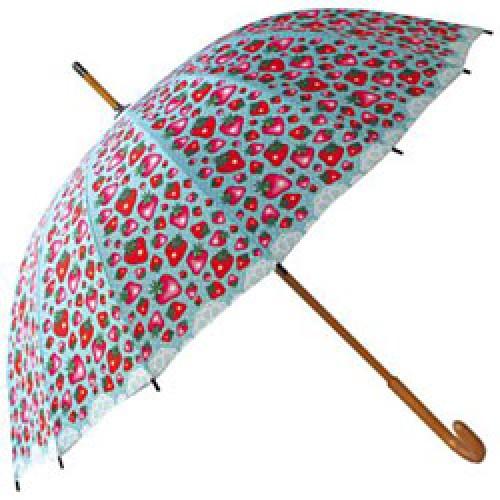 La Marelle Editions-prachtige paraplu-mlle héloïse - aardbeien-3018
