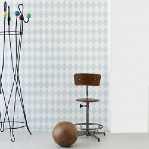 Ferm Living-stijlvol deens behangpapier-harlequin mint-3066
