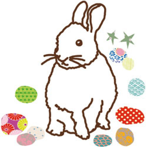 Mim'ilou-hippe strijk applicatie konijn-lapin-3223