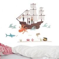 muursticker pirate ship