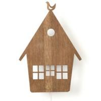 houten wandverlichting house