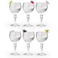 setje gekleurde vogeltjes glasmarkers