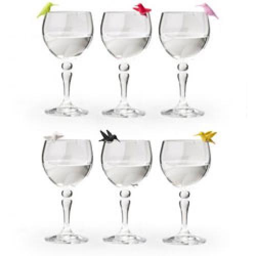 Qualy-setje gekleurde vogeltjes glasmarkers-hummingbird-3585