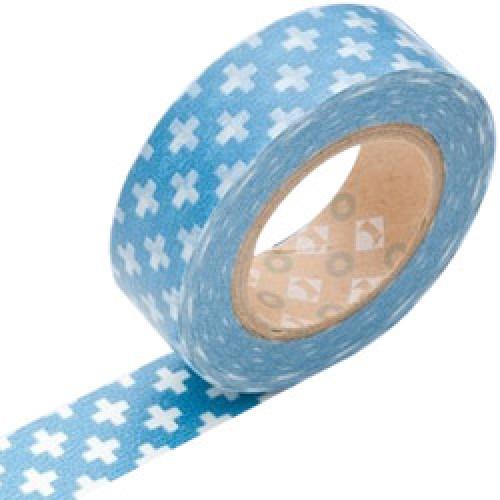 Mark's-japanse washi tape-cross blue-3829