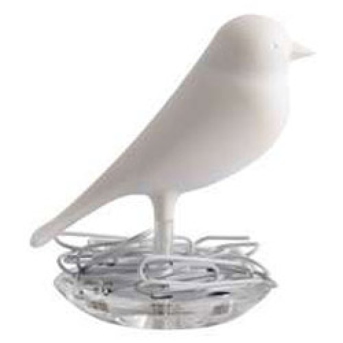 Qualy-vogeltje met paperclips-sparrow paperclipnest wit-3855