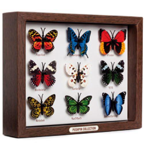 Monkey Business-UITVERKOCHT set van 9 kleurrijke vlinder spijkers-butterfly-3859