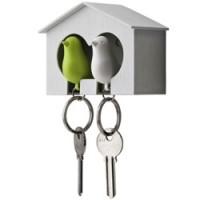 duo vogelhuisje sleutelhanger
