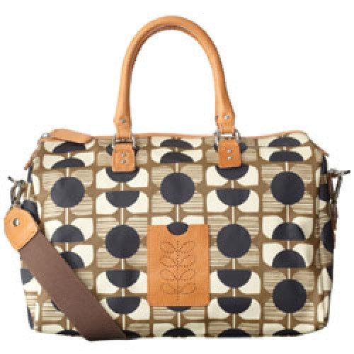 Orla Kiely-UITVERKOCHT stijlvolle handtas square flower-sparrow bag stone-3997