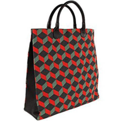 La Marelle Editions-hippe draagtas géométrique-rouge-4640