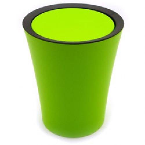 Qualy-flip bin container mini-groen zwart-4827