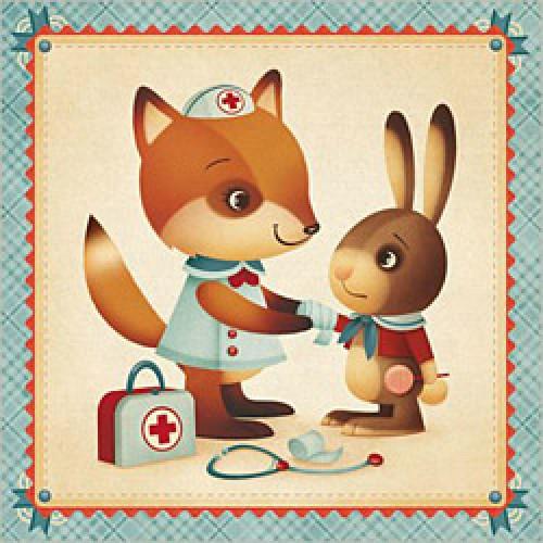 La Marelle Editions-postkaart Gaïa Bordicchia-fox-4853