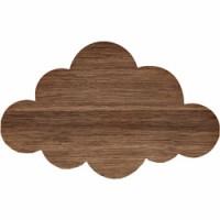 houten wandverlichting cloud