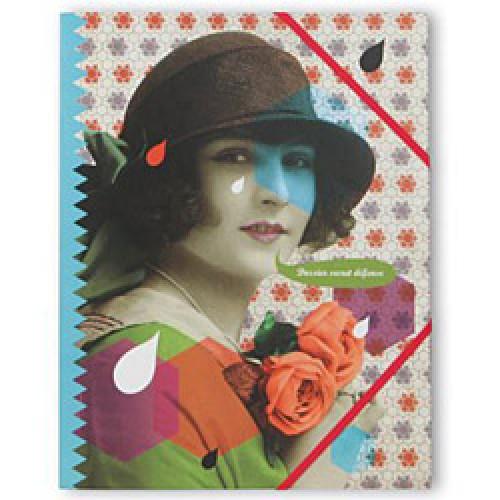 La Marelle Editions-prachtige retro pop elastomap mlle heloise-dossier secret defense-4999