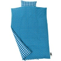 dekbedovertrek blue graphic 100 x 140 cm