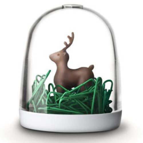 Qualy-grappige paperclip houder deer in the forest-hert in het woud-5141