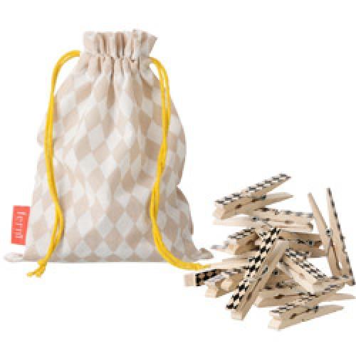 Ferm Living-UITVERKOCHT set originele houten wasknijpers-rose-5342