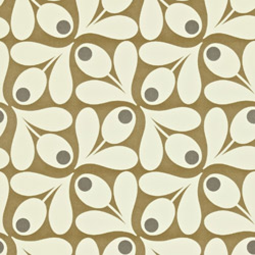 Orla Kiely-orla kiely behang acorn spot-acorn spot brown pepper-5374