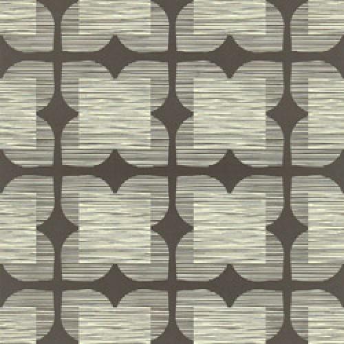 orla kiely behang flower tile-flower tile graphite-5379