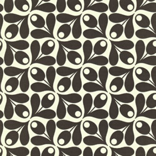 Orla Kiely-orla kiely behang small acorn cup-small acorn cup ebony-5411