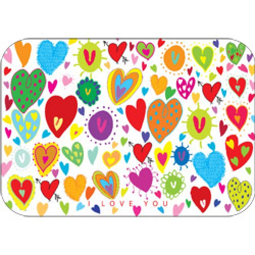 Mum Moves Cards-kleurrijke postkaart mum loves cards-i love you-5419