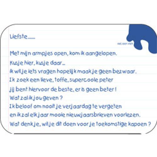 Mum Moves Cards-kleurrijke postkaart mum loves cards-wil je mijn peter zijn-5433